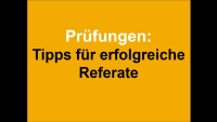 Referate - Tipps