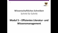 Effizientes Literatur- und Wissensmanagement