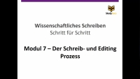 Schreib- und Editing Prozess