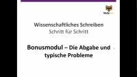 Abgabe und Typische Probleme