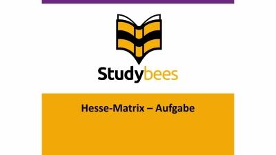 Aufgabe: Hesse Matrix