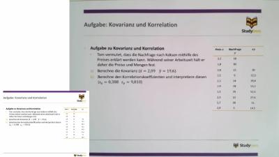 Aufgabe: Kovarianz und Korrelation