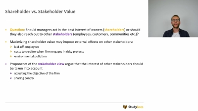 Shareholder vs Stakeholder Value