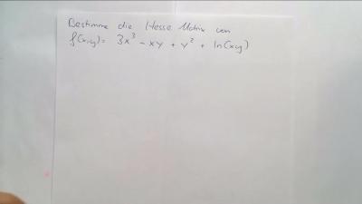 Aufgabe Funktionen mehrerer Variablen