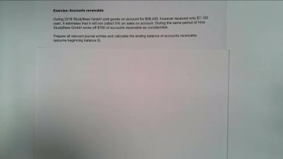 Excercise Accounts Receivable
