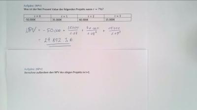 Aufgabe NPV