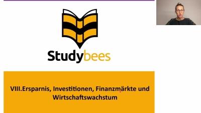 Ersparnis, Investitionen, Finanzmärkte und Wirtschaftswachstum