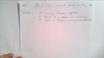 Beschränkte Optimierung 3/3