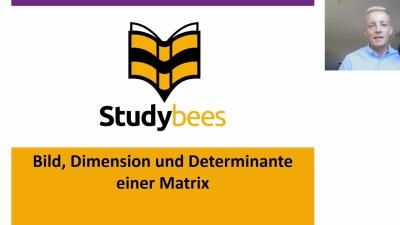 Bild, Dimension und Determinante einer Matrix