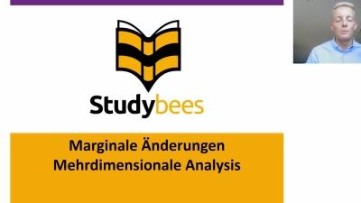 Marginale Änderungen mehrdimensionale Analysis