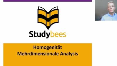 Homogenität mehrdimensionale Analysis