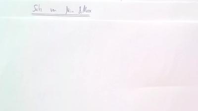 Aufgabe Satz von Min & Max