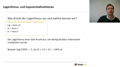 Logarithmus- und Exponentialfunktionen