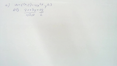 Aufgabe Lagrange-Funktion