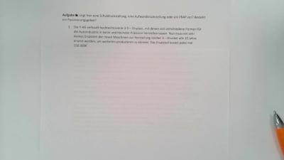 Aufgabe Rückstellungen, Verbindlichkeiten und PRAP