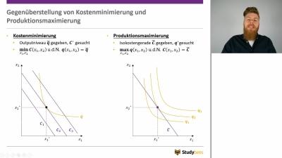 Kostenminimierung und Produktionsmaximierung