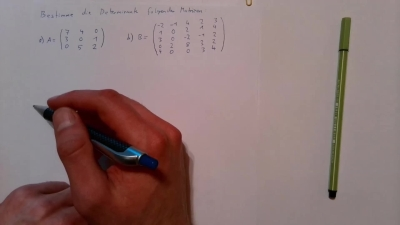 Aufgabe Lineare Algebra - Determinante