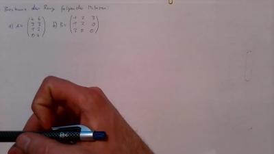 Aufgabe Lineare Algebra - Rang einer Matrix