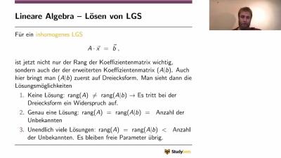 Lineare Algebra - inhomogenes LGS