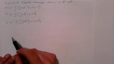Aufgabe Lineare Algebra - Unterräume