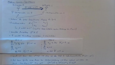 Lineare Algebra - Matrix Games / Spieltheorie
