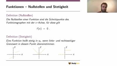Funktionen - Nullstellen und Stetigkeit