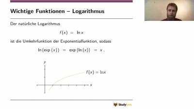 Funktionen - Logarithmus