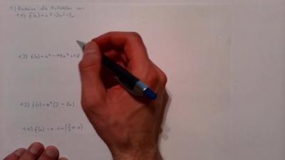 Aufgabe Funktionen - Nullstellen