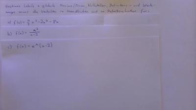 Aufgabe Infinitesimalrechnung - Differentialrechnung