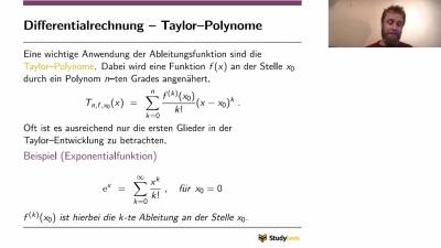 Infinitesimalrechnung - Differentialrechnung Taylor-Polynome