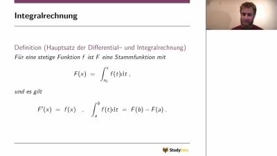 Infinitesimalrechnung - Integralrechnung