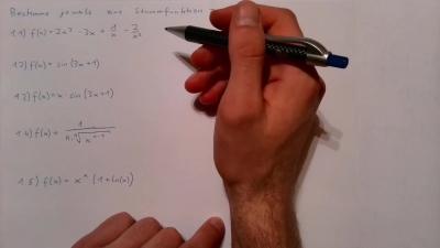 Aufgabe Infinitesimalrechnung - Integralrechnung