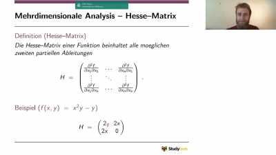 Mehrdimensionale Analysis - Hesse-Matrix