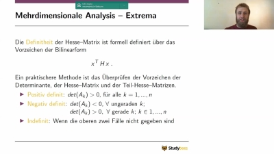 Mehrdimensionale Analysis - Extrema