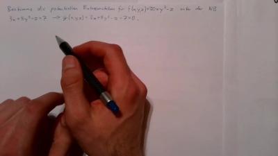 Aufgabe Mehrdimensionale Analysis - Extrema unter Nebenbedingung