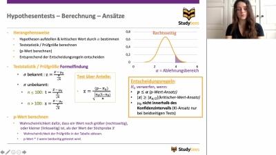 Hypothesentests - Berechnung - Ansätze