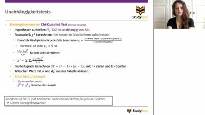 Unabhängigkeitstest - Chi-Quadrate