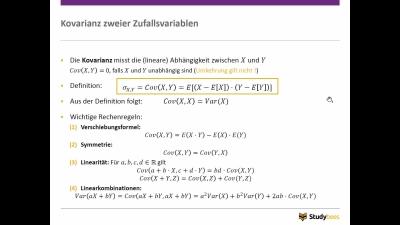 Kovarianz und Korrelation
