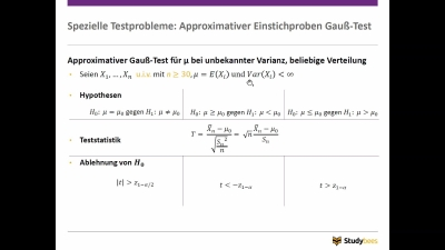 Approximativer Gauß - Test