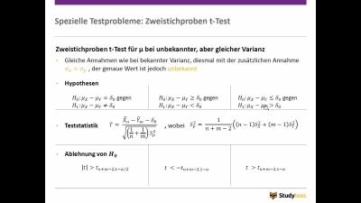 Zweistichproben t - Test