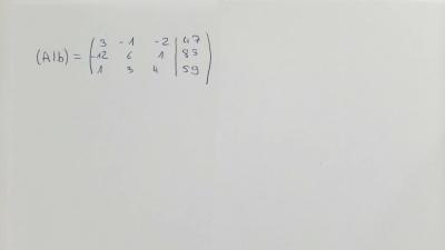 Lineare Gleichungssysteme II