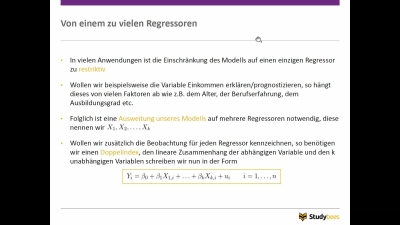 Multiple Lineare Regression I
