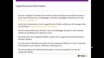 Logarithmustransformation
