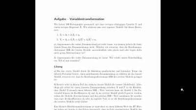 Aufgabe Variablentransformation
