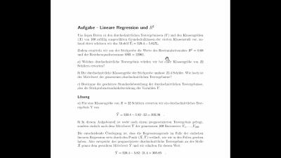 Aufgabe Lineare Regression und R^2