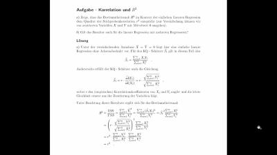 Aufgabe Korrelation und R^2