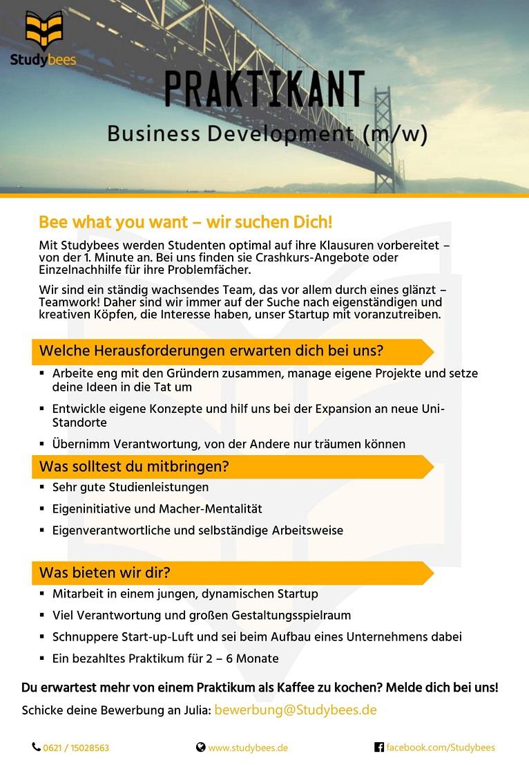 Praktikant Business Development (m/w/d)