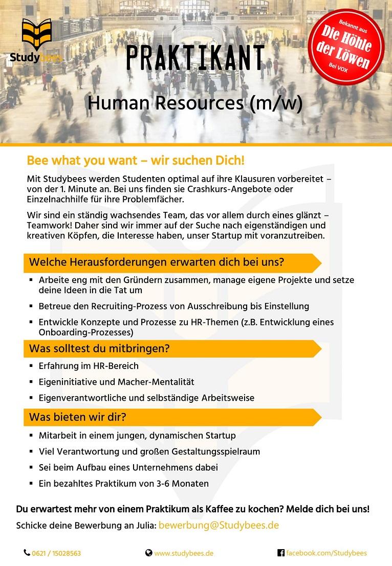 Praktikant Human Resources (m/w/d)