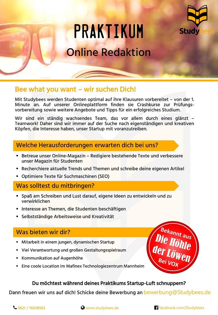 Praktikant Online Redaktion (m/w/d)