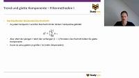 Trend und glatte Komponente (Filtermethoden)